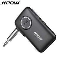 Mpow BH298 Bluetooth 5.0 receptor 3.5mm AAC adaptador de bluetooth con 15H de tiempo de reproducción para audífonos de TV juego de altavoces audio AUX