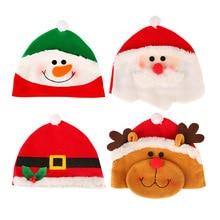 MIARA.L Blasting Christmas decorations dress up gift cute cartoon snowman Santa elk children hats