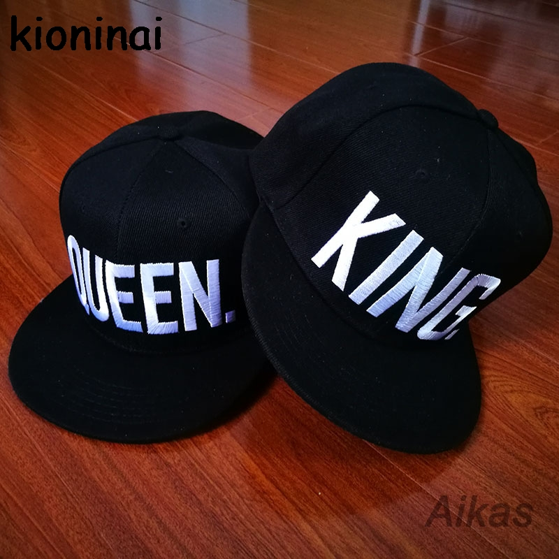 KING QUEEN Snapback Hat Acrylic Couple Baseball Caps
