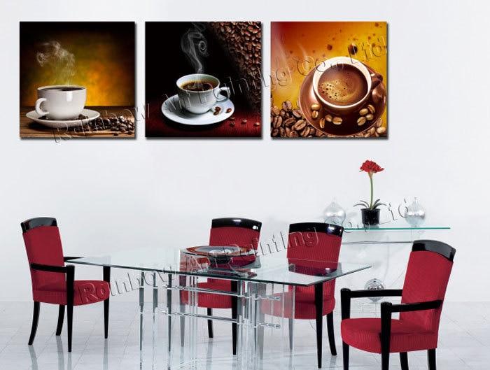Aliexpress.com : Acquista 3 Pannello Moderna Stampato Caffè della ...