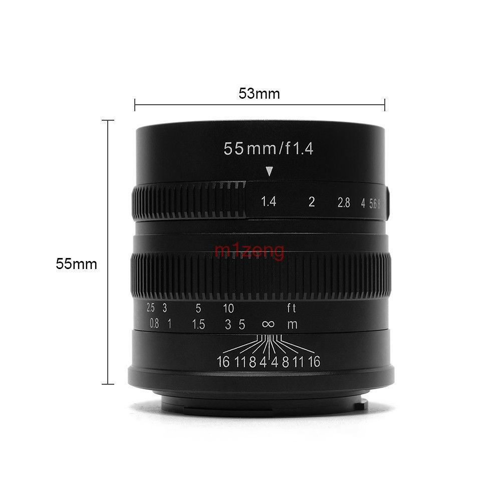 55mm F1.4 aps-c CCTV Film Objectif pour nex7 a5000 a6000 a7 a9 Fujifilm xt10 xt20 xt1 xm1 x-Pro2 EOSM/M2/M3/m6 mirrorless caméra