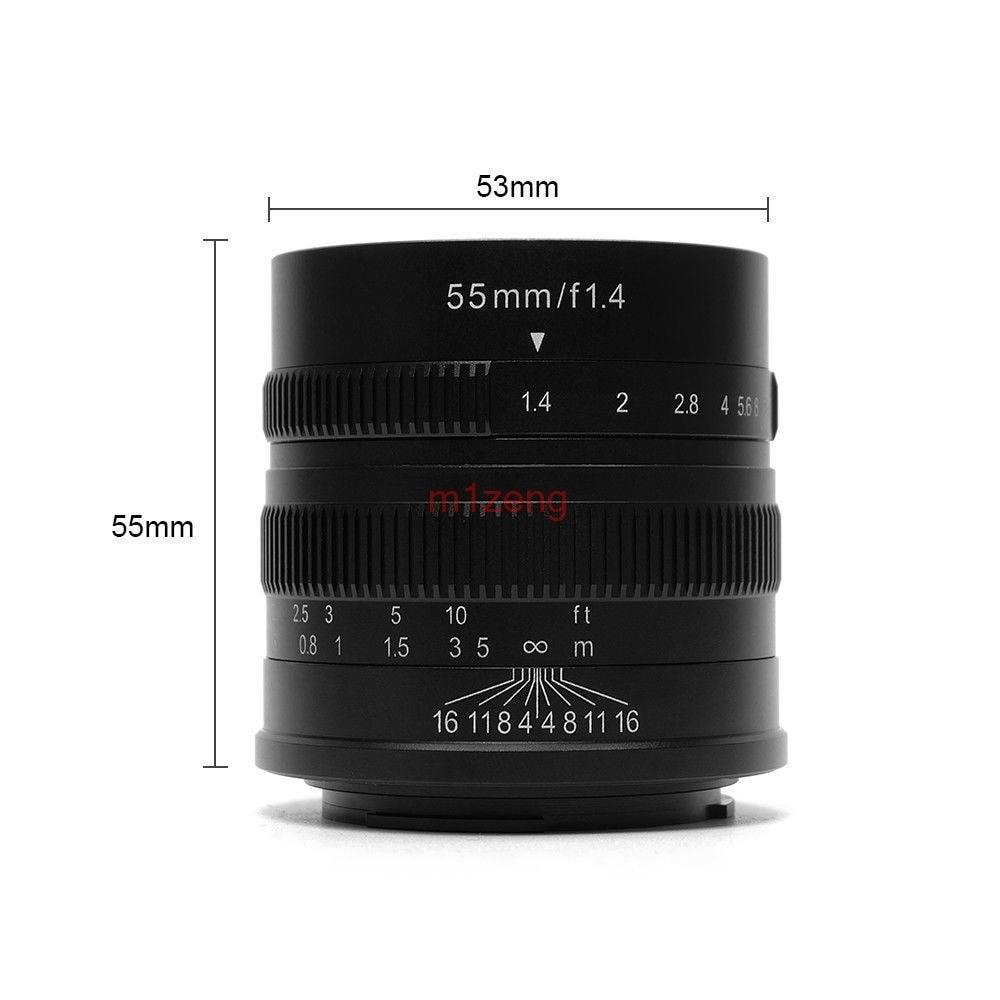 55mm F1.4 aps-c lente de película CCTV para nex7 a5000 a6000 a7 a9 Fujifilm xt10 xt20 xt1 xm1 x-Pro2 EOSM/M2/M3/m6 cámara sin espejo