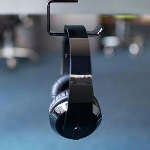 Image 5 - Прочный держатель для наушников и гарнитуры MOONBIFFY, Настенная/настольная подставка для наушников, кронштейн для наушников