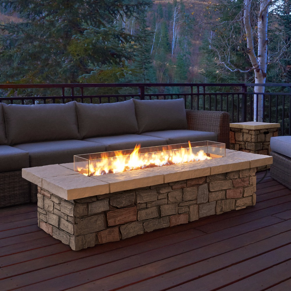 On Sale 62 Inch Ethanol Fireplace For Outdoor Decoration