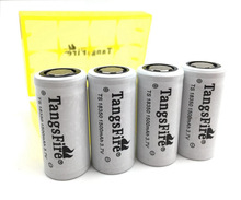 4pc best price TangsFire 18350 3.7 V 1500 mAh Rechargeable Li-ion Flat Top + Box стоимость