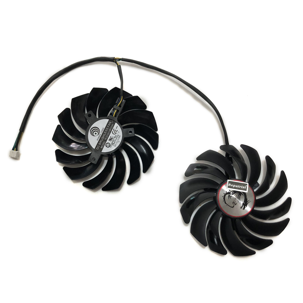 2pcs//set GTX 1060 1080 1070 VGA GPU Cooler Cooling Fan For MSI GTX1080//GTX1070//GTX1060 GAMING GPU Graphics Card Cooling