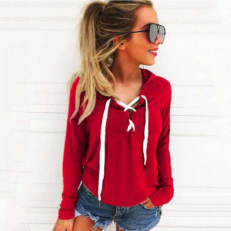 Oversize Hoodies Sweatshirts Women Hoodies Plus Size Pullover Autumn Bandage Hooded Sweatshirt Female Long Sleeves Hoody 4XL 5XL