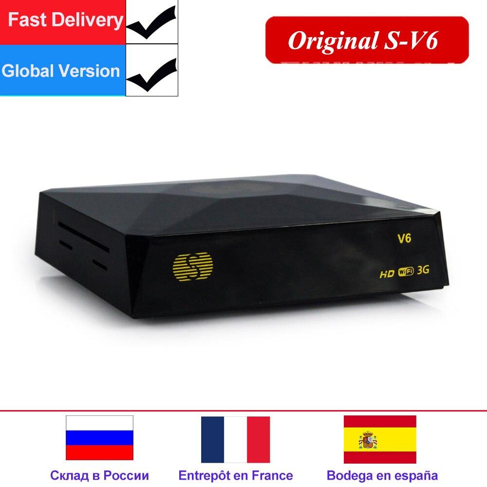 S-V6 TV Box DVB-S2 Receptor Satelite Digital Satellite Receiver Support Xtream NOVA 2xUSB WEB TV 3G Biss Key DVB S2 Decoder V6S