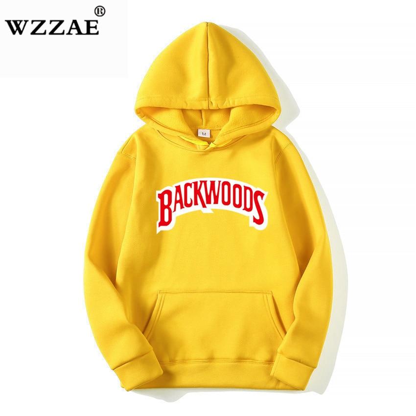 The screw thread cuff Hoodies Streetwear Backwoods Hoodie Sweatshirt Men Fashion autumn winter Hip Hop hoodie pullover Hoody