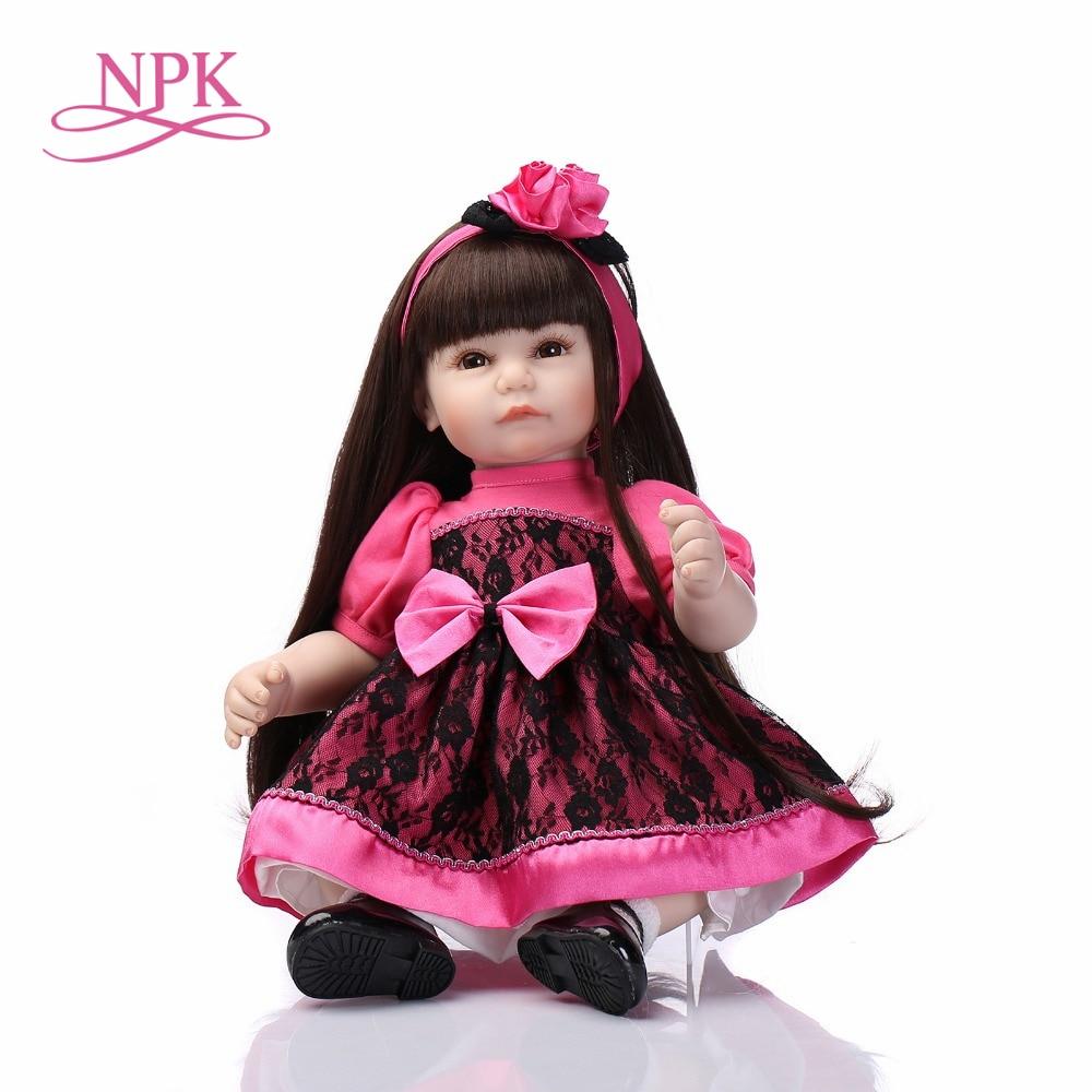 NPK High Quality new design reborn todder doll girl doll Vinyl Toys Soft Cotton Body Children Birthday Present
