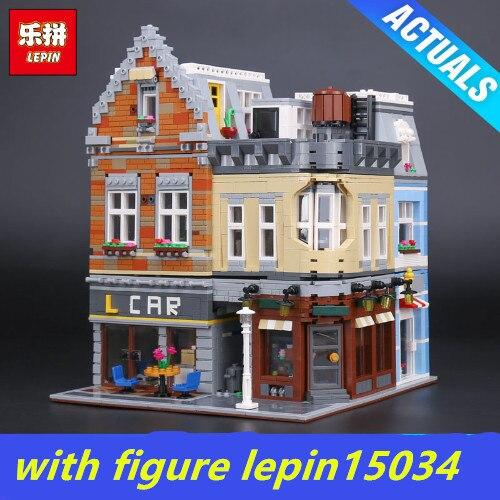 compatibe legoing 10259 Moc ideas LEPIN 15034 4210Pcs street view Series MOC The New Building City Set Building Blocks Bricks 100 ideas that changed street style