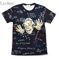 Ocasional Del Verano de Las Mujeres T-shirt Parodia Divertida de ciencias Matemáticas Einstein Print Plus Tamaño Camiseta Floja de Gran Tamaño Tee Top