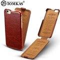 Флип PU Leather Case For iPhone 6 6 S Coque Роскошный Телефон Задней обложка Для Apple Iphone 6 Plus/6 S Plus Случаях Бизнес TOMKAS бренд