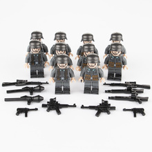 WW2 Parts German Building Blocks Soldier Arms Base Weapon Gun SWAT Team Police M0C Figure Brick Toys Compatible Military C074 стоимость