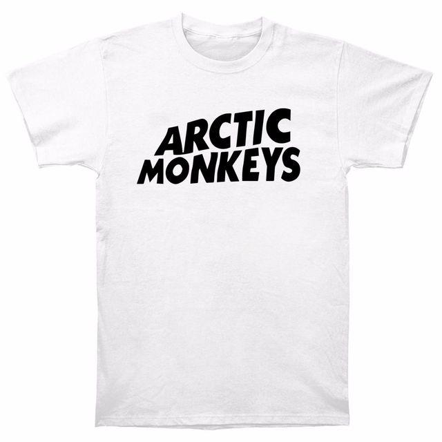 c80a3fc6 Arctic Monkeys Rock Music Band Tee T Shirt AM CD Album White Classic Logo  SMXL T-Shirt Summer Tops Tees High Quality