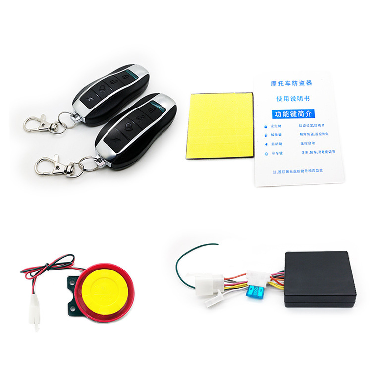 Remote Start Motorcycle Alarm Anti-theft Security For Kawasaki Yamaha Sensitivity Can Adjust Anti-line Cut With 2 Remote Control
