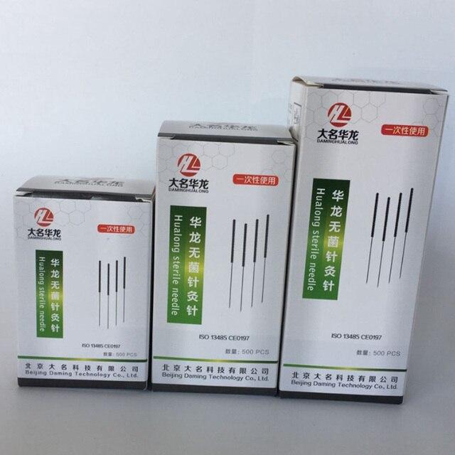 חדש 5000pcs/10 תיבת Hualong חד פעמי מחטי דיקור 10 מחט אחת צינור 0.17/0.16/0.18/0.20/0.25/0.30/0.35mm