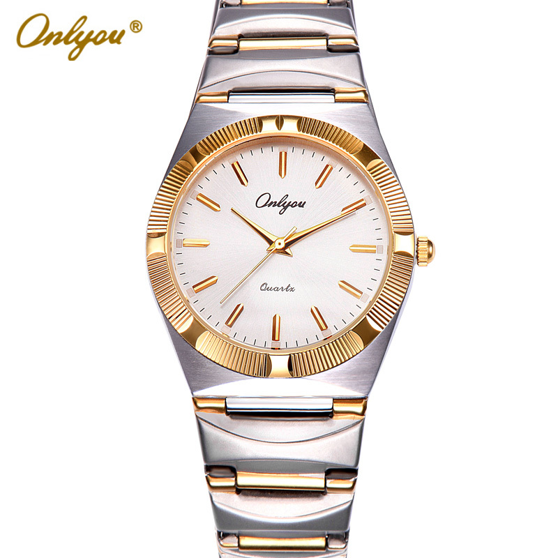 Onlyou Luxury Brand Watches Women Men Fashion Business Quartz Watch Gold Stainless Steel Ladies Clock Relogio Feminino 8836 onlyou brand luxury watches womens men quartz watch stainless steel watchband wristwatches fashion ladies dress watch clock 8861