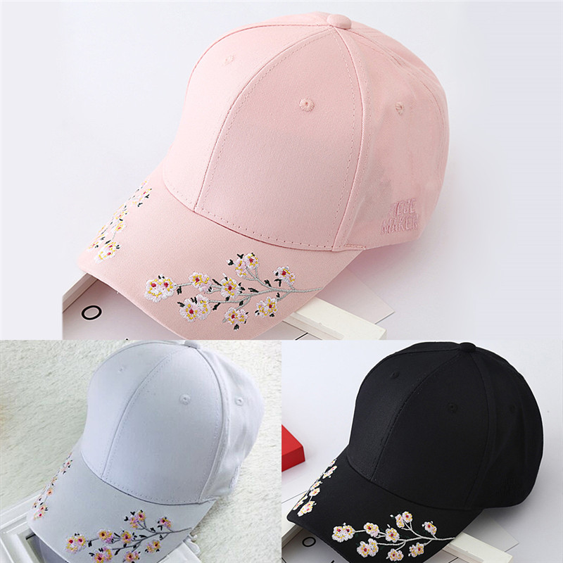Floral Baseball Caps Flowers Caps Snapback new Fashion Women Leisure hat