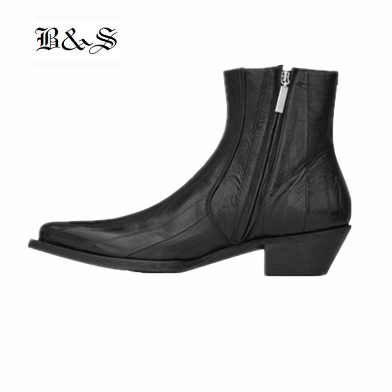 Black& Street 2019 pointed toe wedge sewing line personalize cowboy genuine leather Boots handmade zipper Chelsea BootsBlack& Street 2019 pointed toe wedge sewing line personalize cowboy genuine leather Boots handmade zipper Chelsea Boots