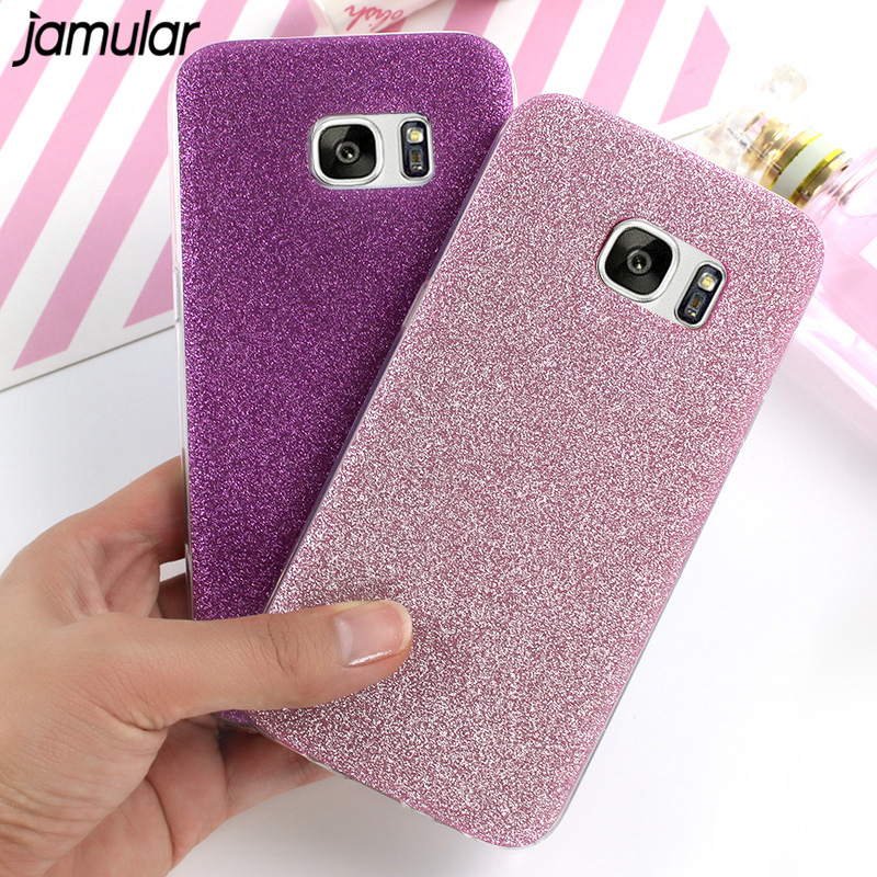JAMULAR Bling Glitter Case For Samsung Galaxy S8 Plus S6