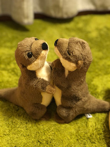 Image 2 - 18cm Standing River Otter Plush Toys Mini Size Real Life Otter Stuffed Animals Toys For Kids Birthday Gifts