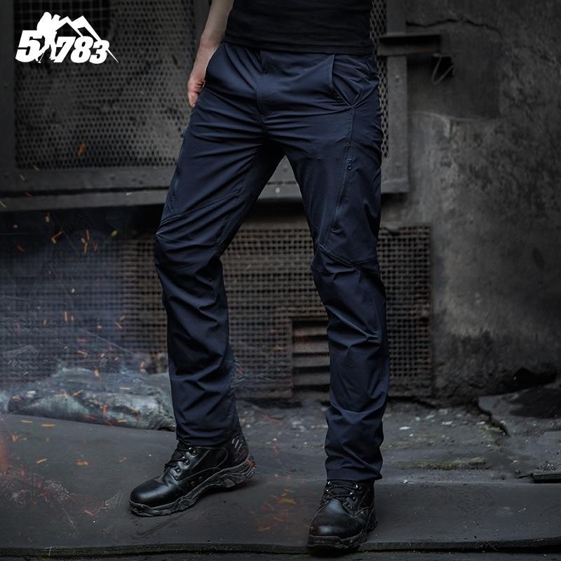 Hommes de Sports de Plein Air Ripstop Micro Stretch Slim Fit Marine Bleu Respirant Randonnée D'été À Séchage Rapide Pantalon Tactique Pantalon pour hommes