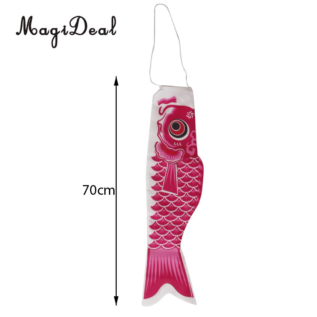 MagiDeal 40cm/55cm/70cm/100cm/150cm Japanese Windsock Carp Flag Koi Nobori Sailfish Fish Wind Streamer Home Party Decorations