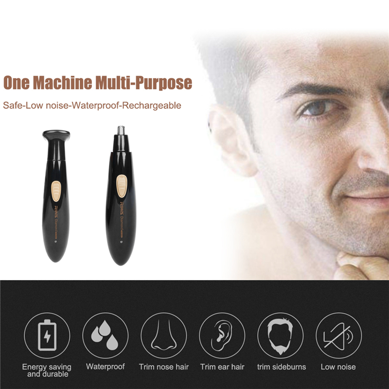 Washable Rechargeable Electric Men Male Ear Nose Trimmer Razor Face Hair Trimer Shaver Hair Removal For Ear Nose Eyebrow Beard