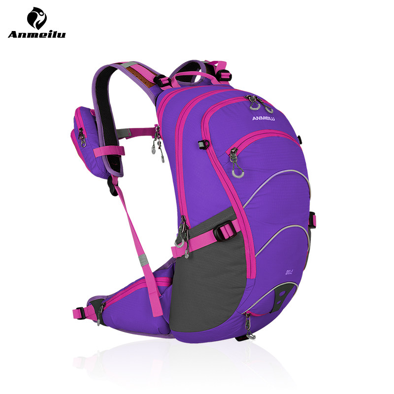 ФОТО ANMEILU 20L Outdoor Bags W/ Rain Cover Sports Water Hydration Bladder Bags Backpacks Eastpack Camelback mochilas deportivas 2017