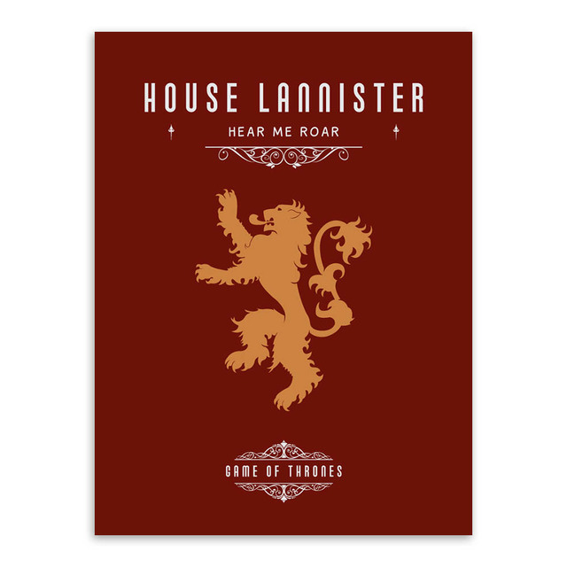 Game Of Thrones A3 Movie TV Poster Vintage Wall Art Canvas Prints Living Room Deer Pictures Painting Modern Home Decor No Frames 4