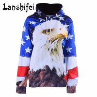 Eagle 3D Print Hoodies Sweatshirts USA Flag Sweatshirt Men/Women Hoodies With Front Pockets Tracksuits Unisex Graphic Pullover