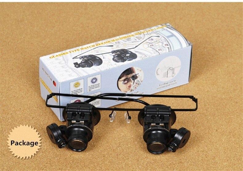20X Watch Repair Binocular Dental Lupas Estilo Óculos Lupa Com Luzes LED  Óculos Optical Lens Lupa Ferramentas de Reparo em Lupas de Ferramentas no  ... 9909986765
