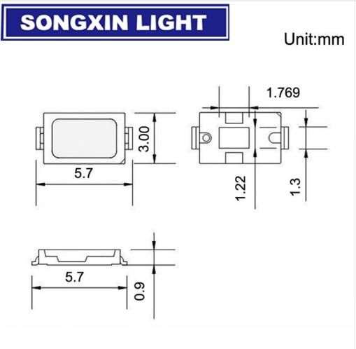500 pièces 5630 SMD LED montage en saillie 5730 Diode Ultra Birght blanc/blanc chaud/rouge/vert/bleu/jaune/rose/Orange/uv-violet/bleu glace