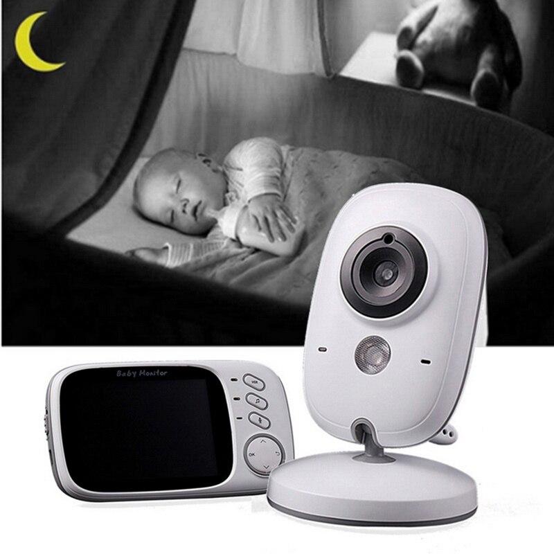 Bezprzewodowy niania elektroniczna Baby monitor VB603 2.4GHz 3.2 cal wyświetlacz LCD wideo z Night Vision monitorowanie temperatury telefon dla dzieci monitor audio