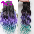 Tape Human Hair Extentions Brazilian Virgin Hair 100g 40pcs Body Wave Ombre Black Purple Green Tape In Human Hair Extension