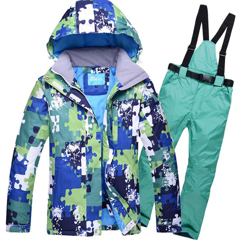 Homme combinaison de Ski coupe-vent imperméable Sport de plein air porter Camping équitation Ski Super chaud Snowboard veste de Ski + pantalon épaissir thermique