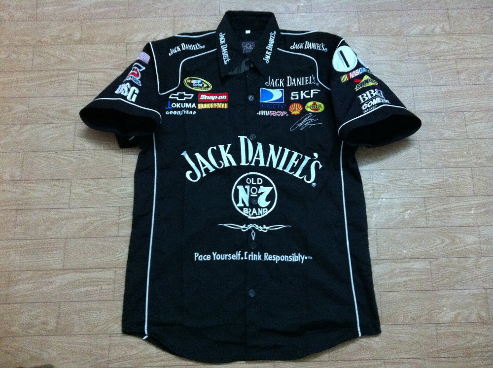 F1 Car Racing Short Sleeve Shirts Black And White Color For Jack ...