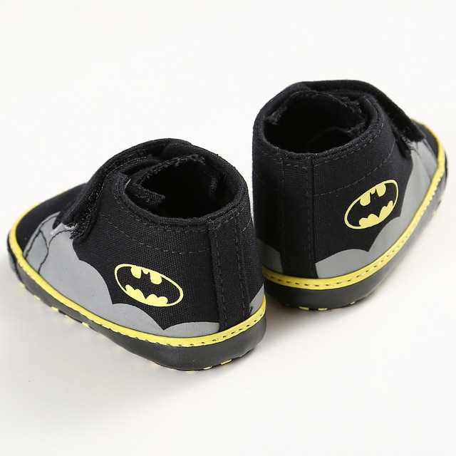 ROMIRUS Fashion Baby Shoes Boys Girls Toddler Cartoon Batman Canvas Kids Footwear Casual Sneakers Crib Babe First Walkers 0-1T