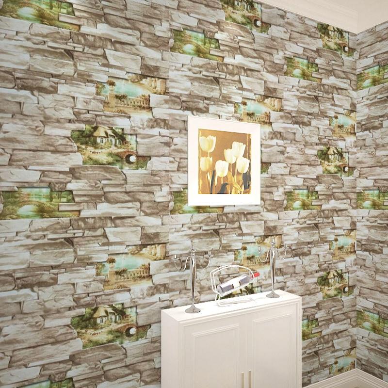 vintage 3d rollo de papel de pared de vinilo wallpaper para paredes de ladrillo de piedra