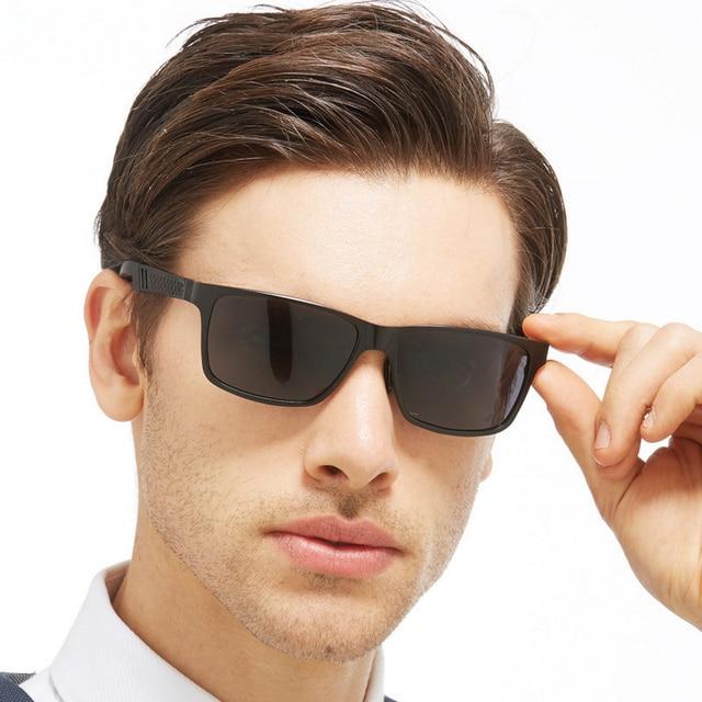 0a74d4f6cc5 Classic Brand Design Polarized Square Blue Mirror Sunglasses Men Metal Frame  Shades Male UV400 Cool Men