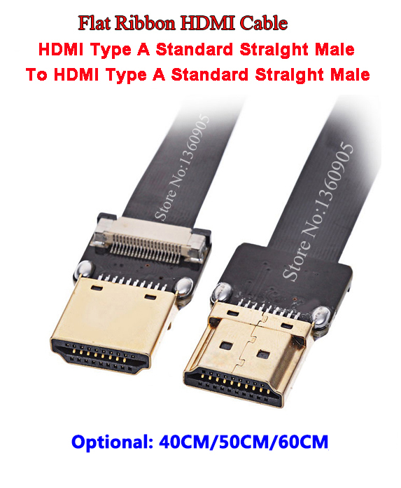 40CM/50CM/60CM Aerial FPV PTZ HDMI Flexible Flat Ribbon Cable FFC Cable FPV HDMI Cable Standard Male To Male Straight