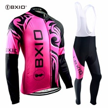 BXIO Winter Cycling Sets Invierno Ropa Ciclismo Team Women Bicycle Clothing Thermal Fleece Long Sleeve MTB