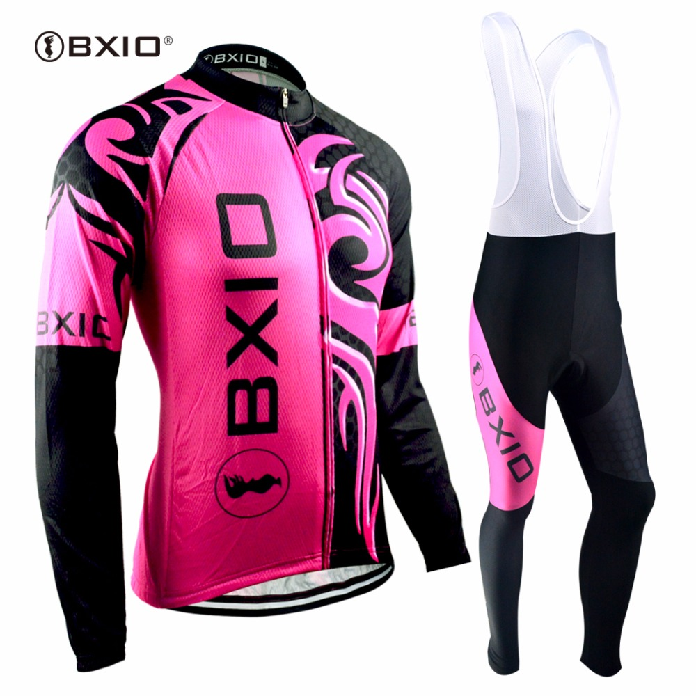 BXIO Winter font b Cycling b font Sets Invierno Ropa Ciclismo Team Women font b Bicycle