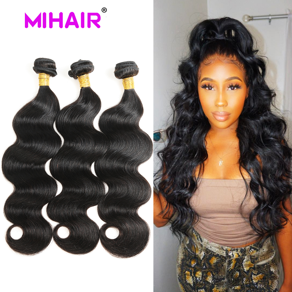 Indisk hårkropsvåg Human Hair Bundles 1/3/4 Bundles Human Hair Weave 8-30 Inch Natural Color Remy Hair Extension For Women