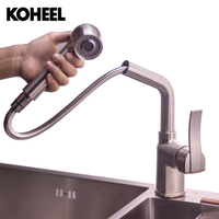 Kitchen Faucet Wholesale And Retail Promotion NEW Pull Out Brushed Nickel Pull Out Kitchen Faucet Sink