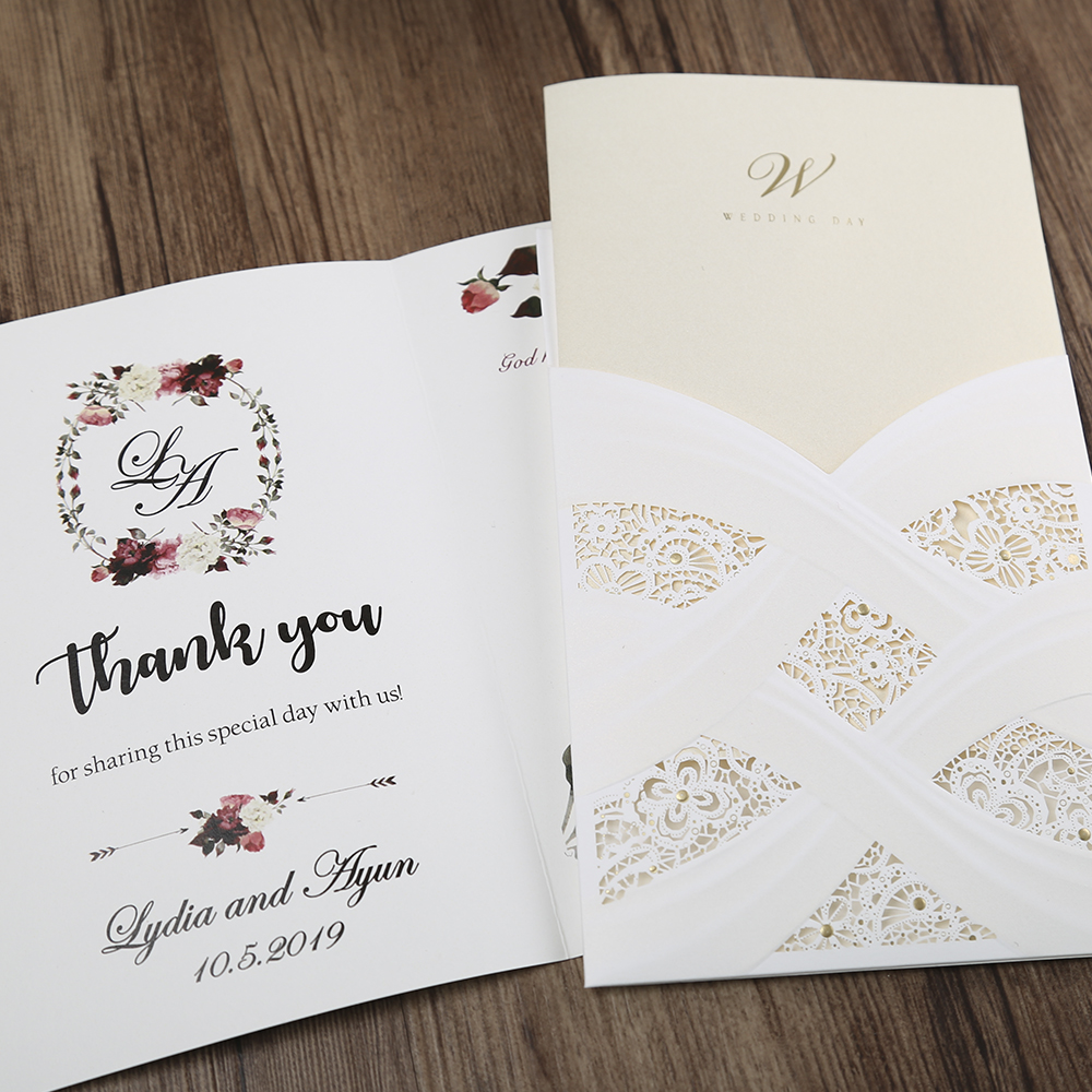 100st hete mode laser gesneden witte holle flora bruiloft - Feestversiering en feestartikelen - Foto 3