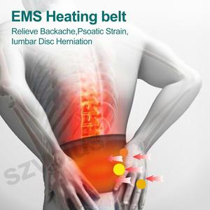 Image 4 - Ems加熱ベルト痩身マッサージ電気パルスemsトレーナー筋肉刺激鍼十理学療法myostimulator