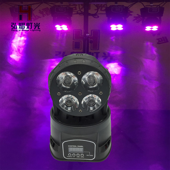 (1pcs/lot) LED moving head beam stage Light 4x20W RGBW Mobil head light Quad LEDs With Excellent Pragrams 14 Channels