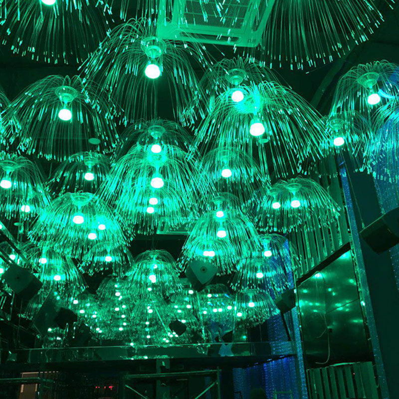 LED Night Light Color Jellyfish Illumination Lamp Led Optical Fiber Night Light 220V Novelty Baby Sleep Gift For Kids Toy